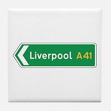 Liverpool Roadmarker, UK Tile Coaster