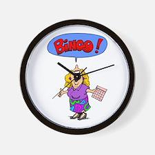 Bingo Mama Wall Clock