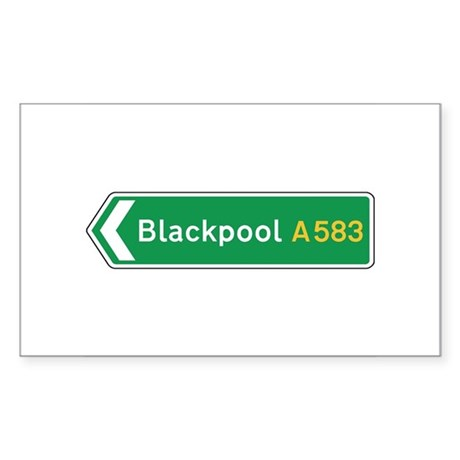 Blackpool Roadmarker, UK Rectangle Sticker