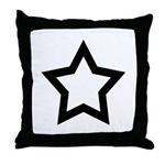Pagan Five Pointed Star Throw Pillow