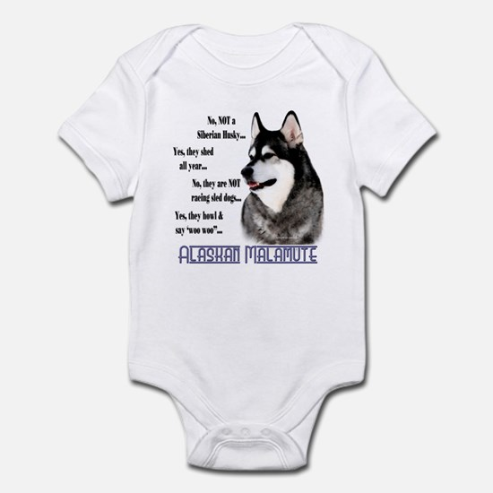 Malamute FAQ2 Infant Bodysuit