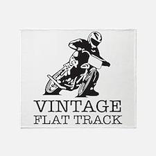 Flat Track One Bike Logo Throw Blanket