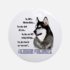 Malamute FAQ2 Ornament (Round)