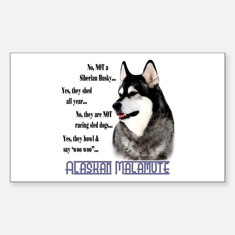 Malamute FAQ2 Rectangle Decal