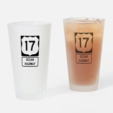 US Route 17 Ocean Highway Drinking Glass