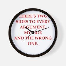 arguement Wall Clock