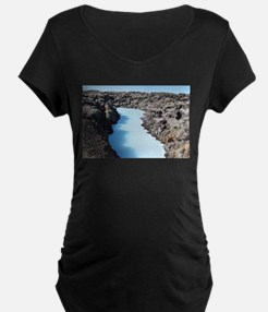 Blue Lagoon in Iceland Maternity T-Shirt
