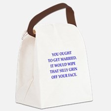 married Canvas Lunch Bag