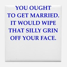married Tile Coaster