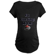 #1 Curling Mom T-Shirt