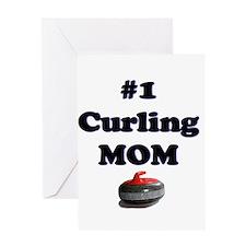 #1 Curling Mom Greeting Card