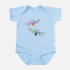 Multicolored Honeybee Doodles Body Suit