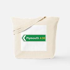 Plymouth Roadmarker, UK Tote Bag