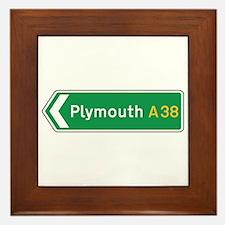 Plymouth Roadmarker, UK Framed Tile