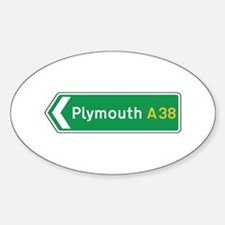 Plymouth Roadmarker, UK Oval Decal