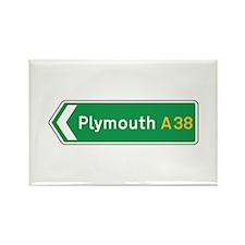 Plymouth Roadmarker, UK Rectangle Magnet