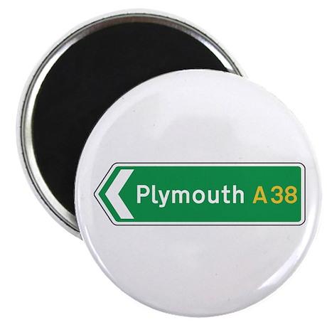 Plymouth Roadmarker, UK Magnet