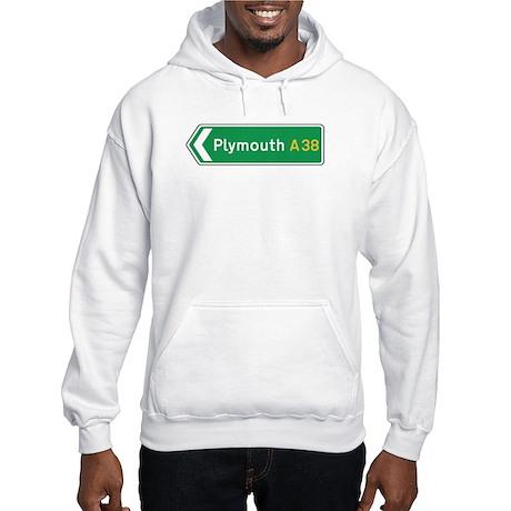 Plymouth Roadmarker, UK Hooded Sweatshirt