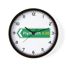 Plymouth Roadmarker, UK Wall Clock