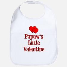 Papaw's Little Valentine Bib