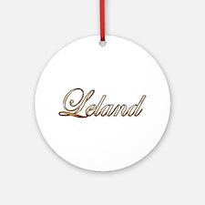 Cute Leland Round Ornament