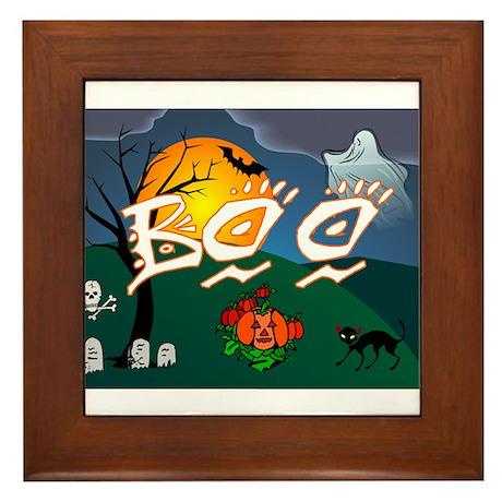 BOO Framed Tile