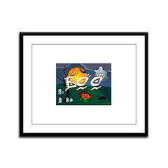 BOO Framed Panel Print