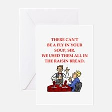waiter Greeting Cards