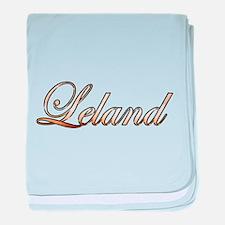 Gold Leland baby blanket