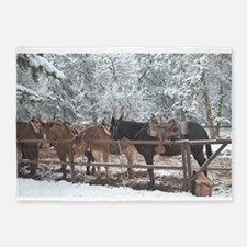 Mule Ride at the Grand Canyon 5'x7'Area Rug