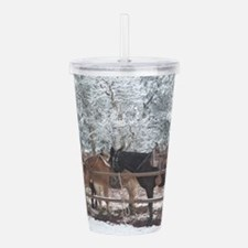 Mule Ride at the Grand Acrylic Double-wall Tumbler