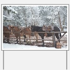 Mule Ride at the Grand Canyon Yard Sign
