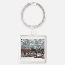 Mule Ride at the Grand Canyon Keychains