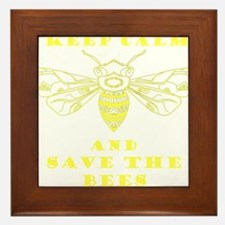 Keep Calm and Save the Bees Framed Tile
