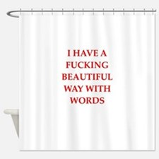 Writer Shower Curtains Writer Fabric Shower Curtain Liner - Shower curtain with words