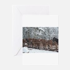 Stables at the Grand Canyon Greeting Cards