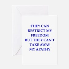 apathy Greeting Cards