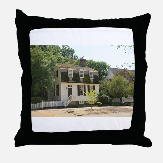 Historic Colonial Style Home Virginia Throw Pillow