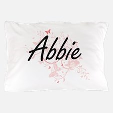 Abbie Artistic Name Design with Butter Pillow Case