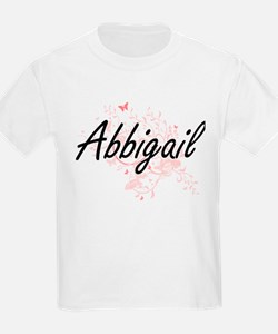 Abbigail Artistic Name Design with Butterf T-Shirt