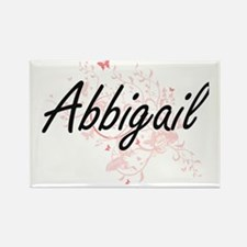 Abbigail Artistic Name Design with Butterf Magnets