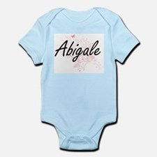 Abigale Artistic Name Design with Butter Body Suit