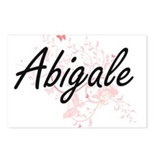 Abigale Artistic Name Des Postcards (Package of 8)