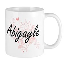Abigayle Artistic Name Design with Butterflie Mugs