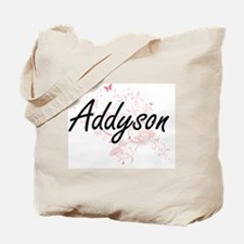Addyson Artistic Name Design with Butterf Tote Bag