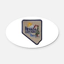 Nevada State Parks Oval Car Magnet