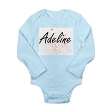 Adeline Artistic Name Design with Butter Body Suit