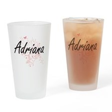 Adriana Artistic Name Design with B Drinking Glass