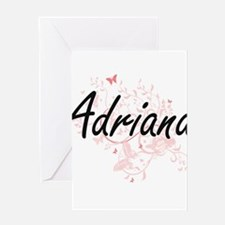 Adriana Artistic Name Design with B Greeting Cards