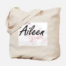 Aileen Artistic Name Design with Butterfl Tote Bag